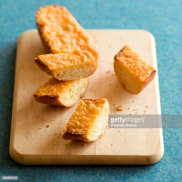 Three cheese garlic bread