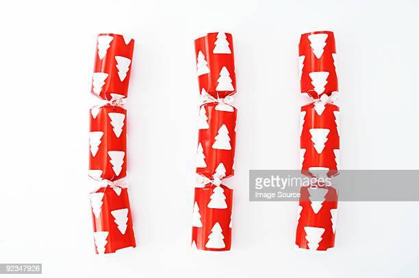 Three christmas crackers