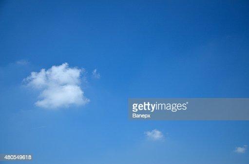 Três nuvens : Foto de stock