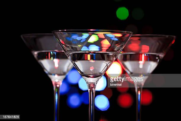 Three cocktail glasses