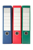 Three Colored Ring Binders