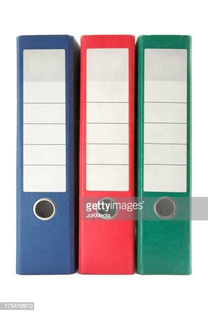 Tre anelli colorati raccoglitori