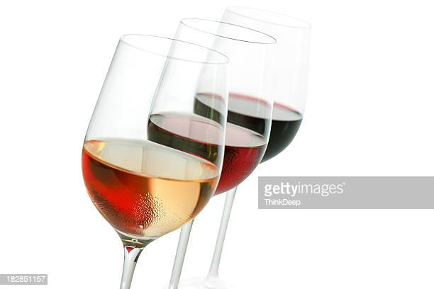 Three Colors of wine incl.cliping path
