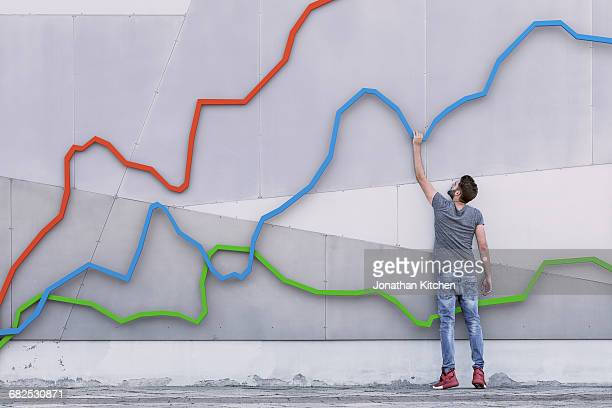 Three coloured graph with man