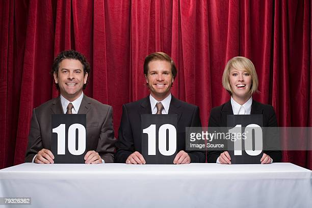 Three competition judges