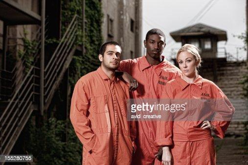 Three Convicts in the Prison Yard