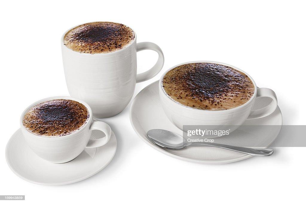 Three cups of coffee : Stock Photo