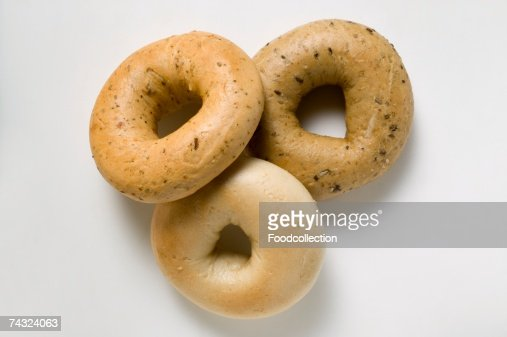 Three different bagels : Stock Photo