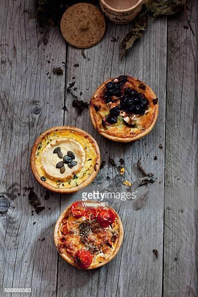 Three different tarts