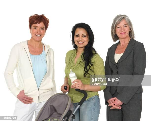 Three different women