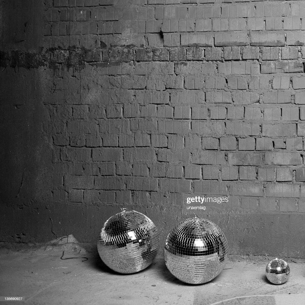 three discoballs