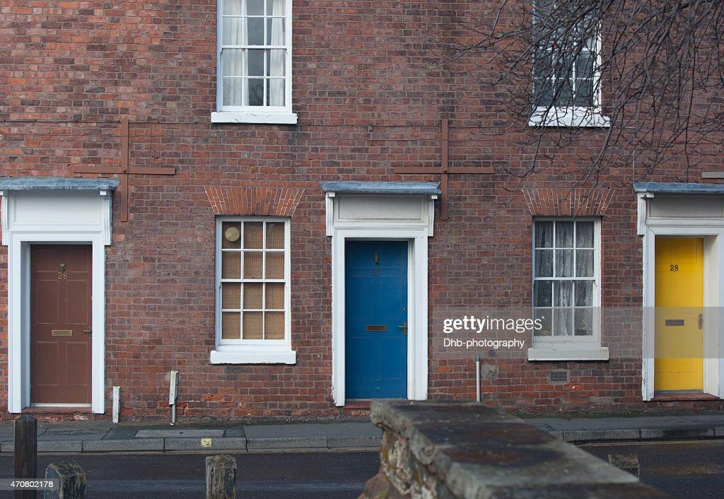 three doors in Shrewsbury  Stock Photo & Three Doors In Shrewsbury Stock Photo | Thinkstock