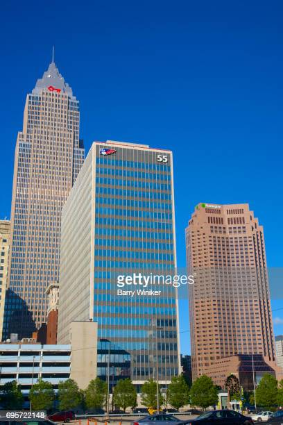 Three downtown Cleveland office towers