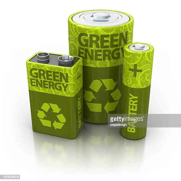 three eco batteries