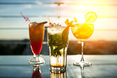 fresh summer cold alcohol drinks;