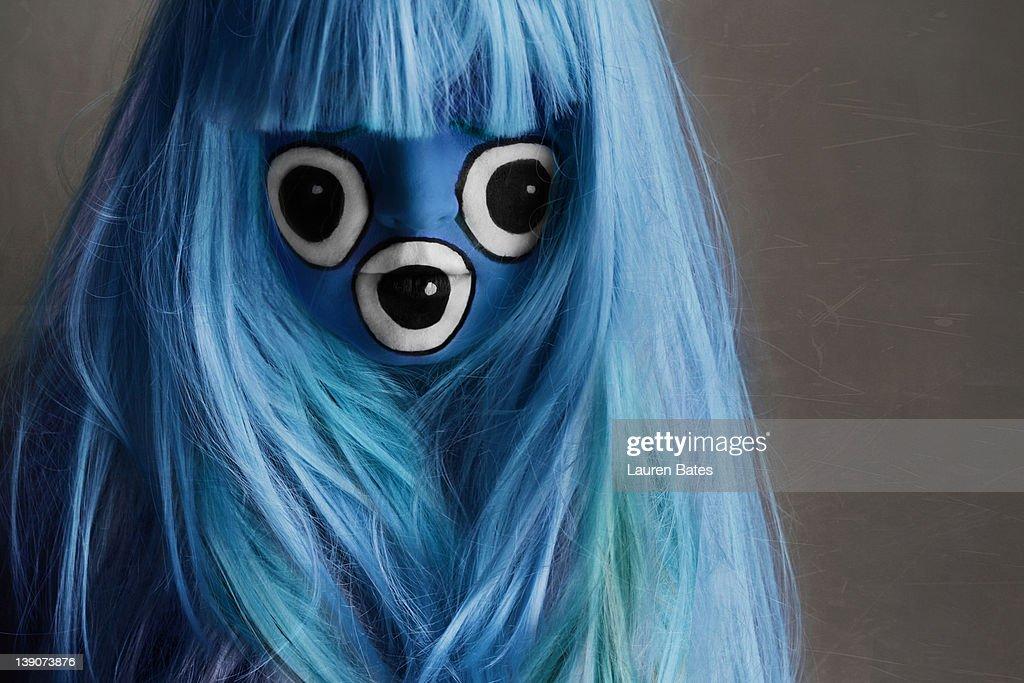 Three eyed hairy monster : Stock Photo
