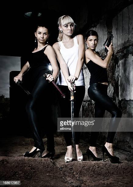 Trois femmes warriors