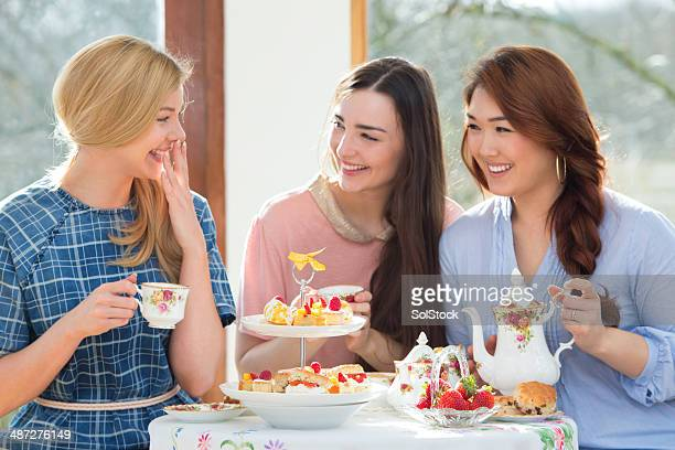 Three Friends Having Afternoon Tea