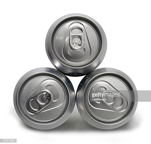 Three full cans