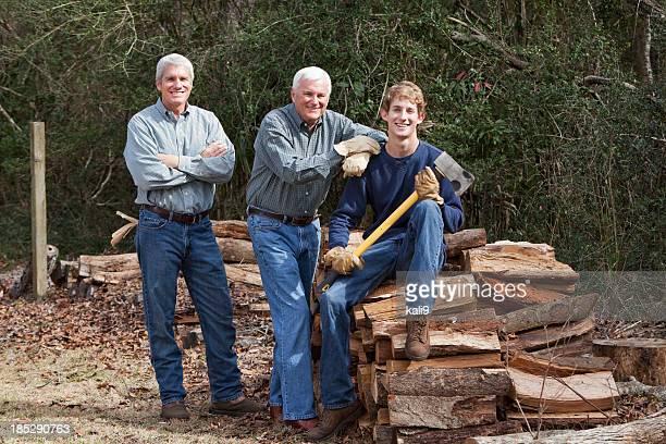Clam sauce 薪の 3 つの世代の家族
