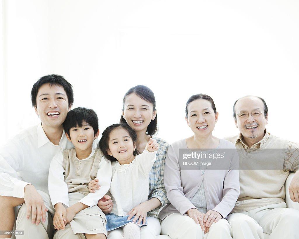 Three Generation Family : Stock Photo