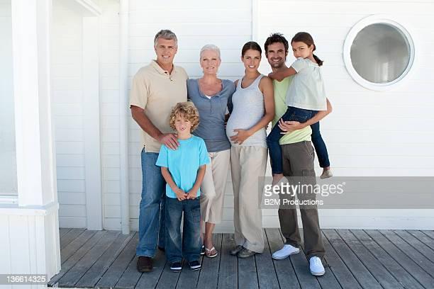 Three generation family, smiling, portrait