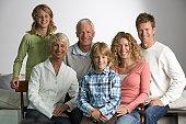 Three generation family with children (9-10 years)