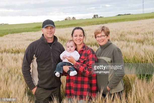 Three Generation Farming Family