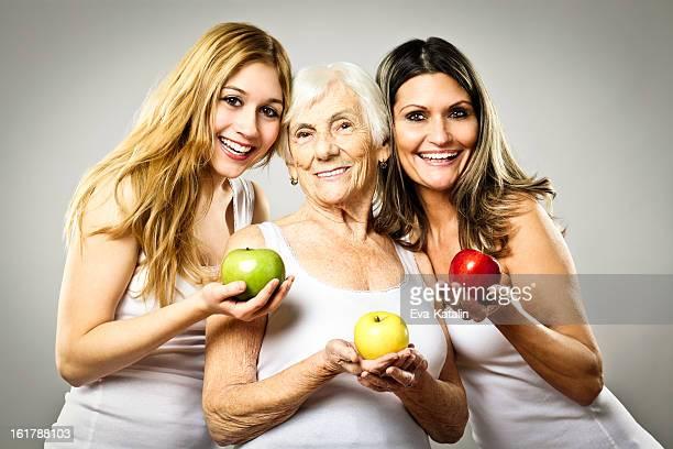 Drei generation-Porträt von Fröhliche Familie