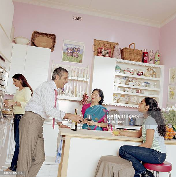 Three generational family in kitchen