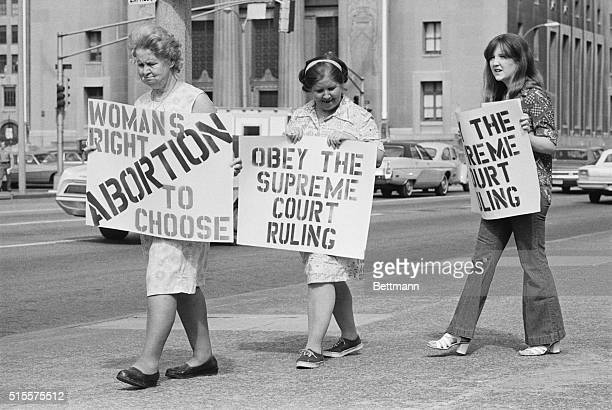 Three generations apart but together on their stand on abortion Adelle Thomas her daughter Marie Higgins and her daughter Catherine Starr join in the...