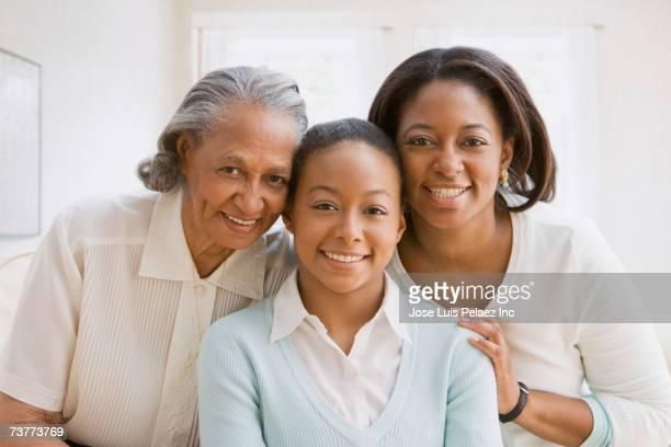 Three generations of African women