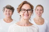 Portrait of three generations of female family