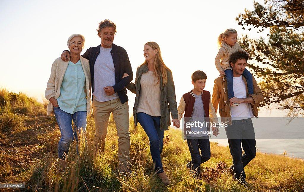 Three generations of happiness : Stock Photo