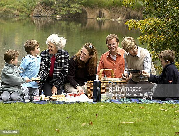 Three generations of Mums get together in the Botanical Gardens to celebrater their specialness Mums left to right are Monica Shepherd Alex Evans the...