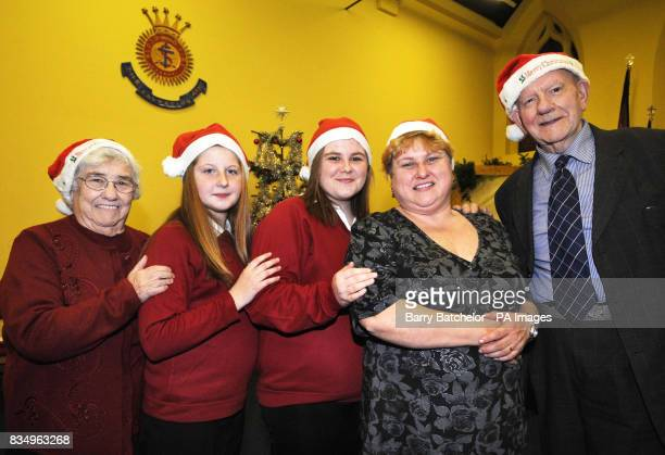 Three generations of Salvation Army Christmas helpers Sheila Lloyd husband Kenneth Lloyd and Susan JamesLogan with her daughters Rebecca aged 11 and...
