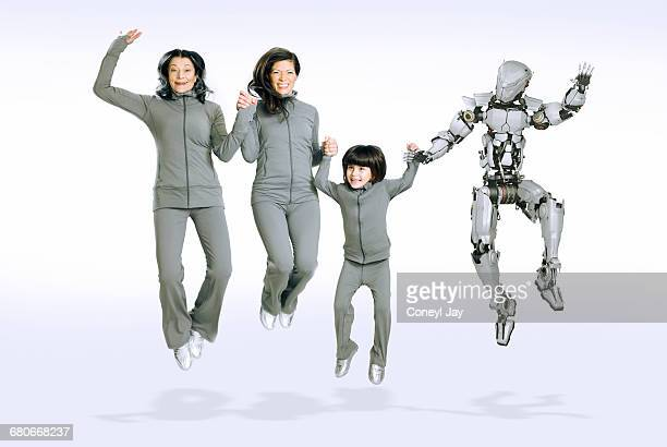 Three generations of women and a robot