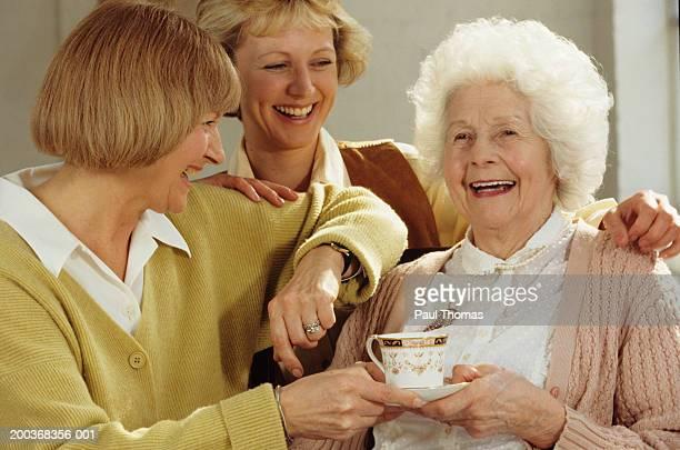 Three generations of women, close-up