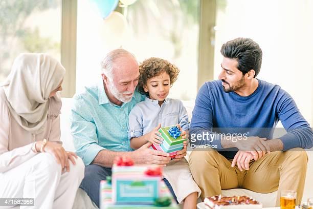 Three Genration Arabic family taking a selfie