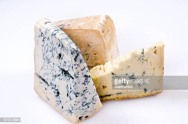 Trois gorgonzola fromages
