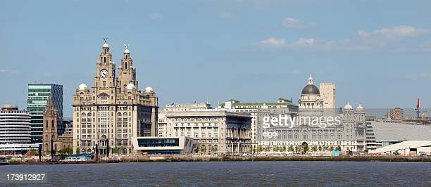 Three Graces, River Mersey, Liverpool city waterfront