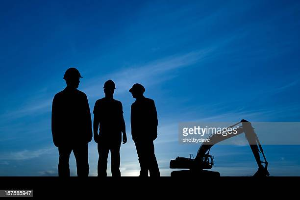 Three Guys at a Construction Site