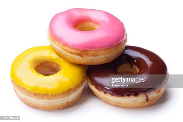 Three Iced Donuts