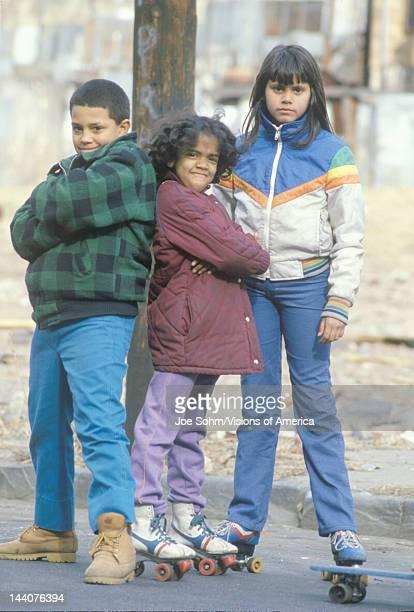 Three inner city children Bronx NY City