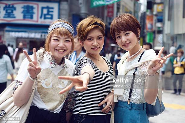 Three Japanese young women