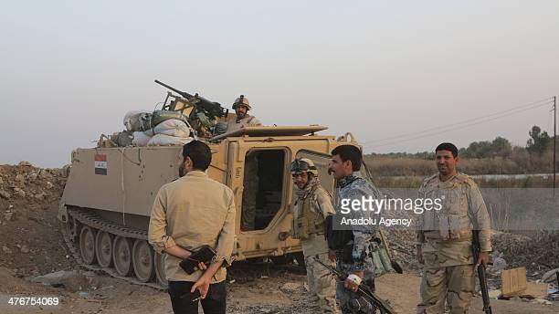 Three killed and 10 wounded during the clashes between Iraqi army and armed tribesmen in restive province of Anbar Iraq on March 5 2014