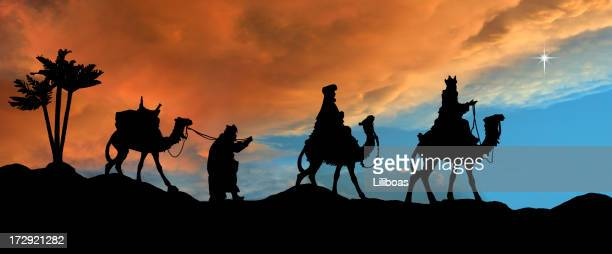 Tres reyes (fotografiado Silueta
