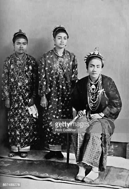 Three ladies of the royal family of Perak Malay Peninsula 1902 From The Living Races of Mankind Vol I [Hutchinson Co London 1902] Artist L Wray