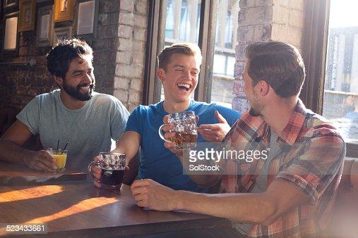 Three Lads Chatting