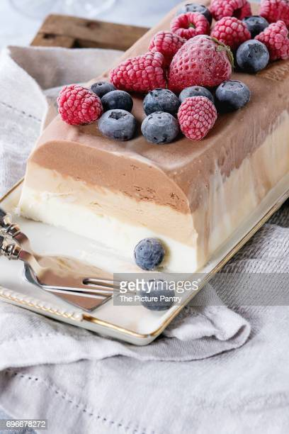 Three layers ice cream cake